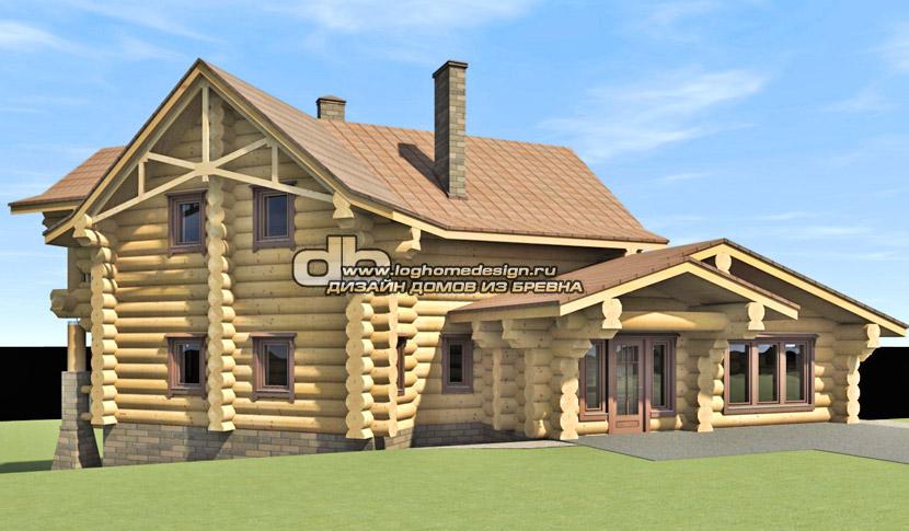 Дизайн рубленного дома