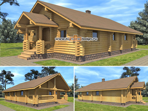 One story log home designs joy studio design gallery for One story log cabin