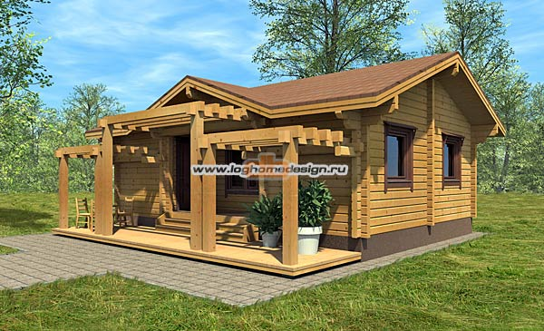 Деревянный дом из бруса в